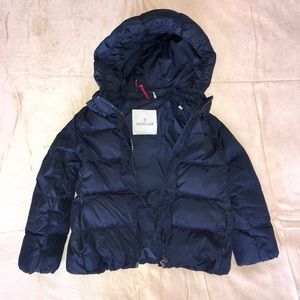 Moncler Quilted Girls Ruffle Jacket